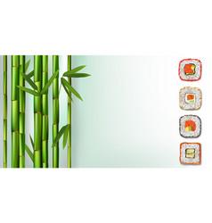 delicious japanese food maki rolls sushi rolls vector image