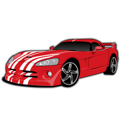 dodge viper vector image