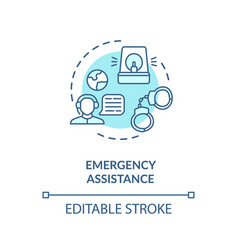 Emergency assistance concept icon vector