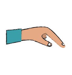 extended business hand vector image