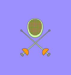 Fencing equipment vector