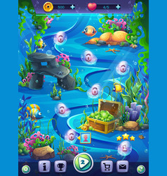fish world vertical level seamless map field vector image