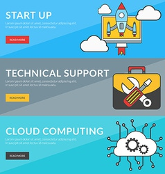 Flat design concept for start up technical support vector image