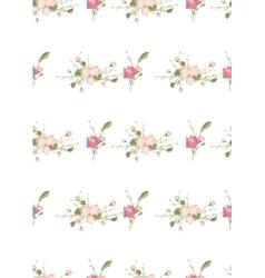 Floral carnation retro vintage background vector image