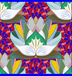 floral sweet seamless background for textile vector image