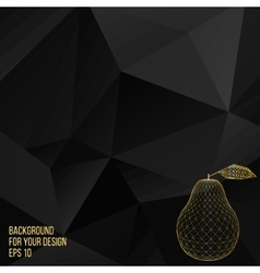 Gold Pear Abstract Creative vector image