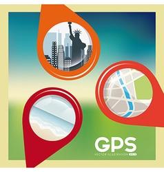 gps concept vector image