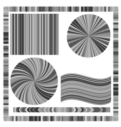 Grey Frame and Circles vector image
