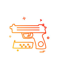 gun icon design vector image