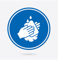 Hand washing - icon isolated vector