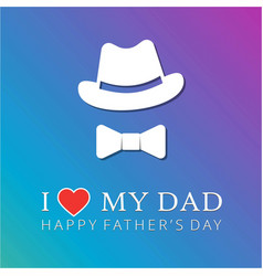 happy fathers day design announcement and vector image