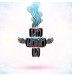 Happy Valentines Day card with doodles vector image