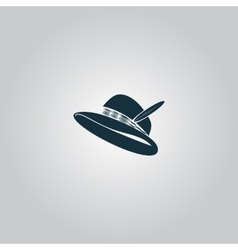 Hat with a feather vector