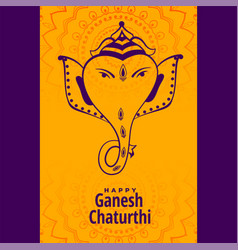 hindu festival ganesh chaturthi mahotsav vector image