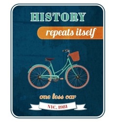 Hipster bicycle promo poster vector