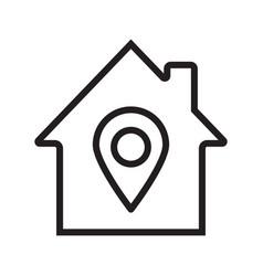 Home location linear icon vector