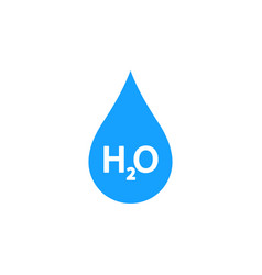 Illstration water drop icon flat design vector