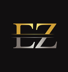 initial ez letter linked logo business template vector image