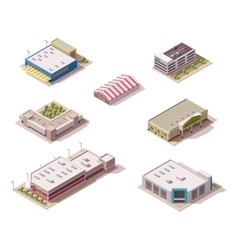 Isometric stores set vector