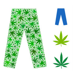 Jeans mosaic of cannabis vector