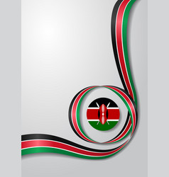 Kenyan flag wavy background vector