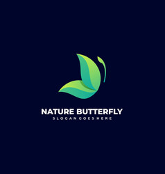 logo nature butterfly gradient colorful vector image