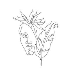 Modern continuous line art ancient greek vector