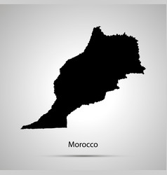 Morocco country map simple black silhouette on vector