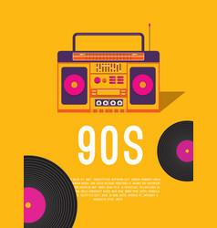 Music 90s vector