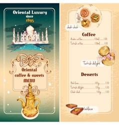 Oriental sweets menu vector