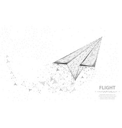 paper airplane abstract polygonal vector image