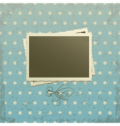 Photo frame on retro background vector image vector image