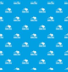 power tool metal pattern seamless blue vector image