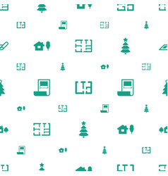 Project icons pattern seamless white background vector