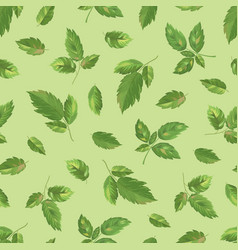Raspberry leaves seamless pattern-01 vector