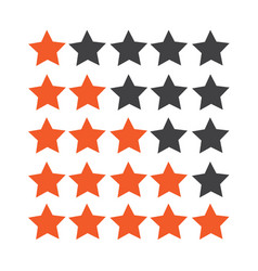 rating stars icon vector image