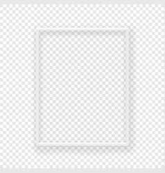 realistic thin white picture frame on a wall vector image