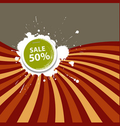 Sale Price tag colorful background vector image