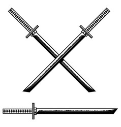 samurai katana sword design element for logo vector image
