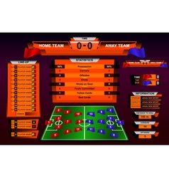 Scoreboard football vector