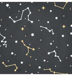 Seamless repeating pattern with of stars on a sky vector