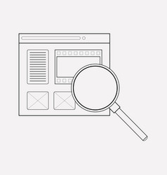 search content icon line element vector image