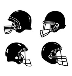 Set of helmets for american football isolated vector