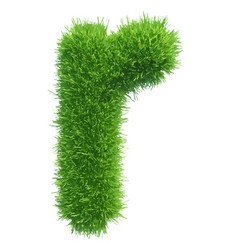 Small grass letter r on white background vector