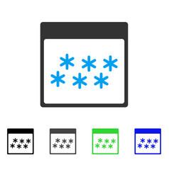 Snowflakes calendar page flat icon vector