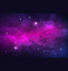 space planets and stars galaxy nebula and stardust vector image