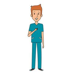 Surgeon professional man of health vector