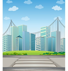 Tall buildings in city vector