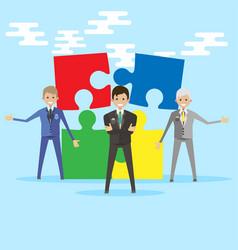 teamwork business people together symbol vector image