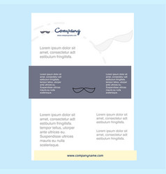 template layout for mustache comany profile vector image